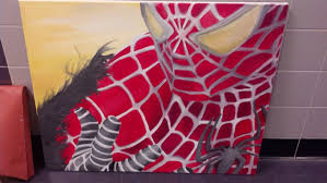 spider man oil painting joeythehedgehog deviantart