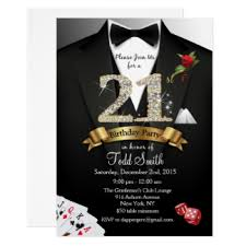 casino invitations u0026 announcements zazzle