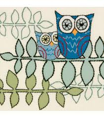 owl crewel embroidery kits embroidery patterns joann joann