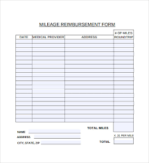 travel reimbursement form template ms excel vehicle mileage log