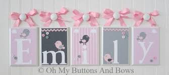 Nursery Wall Decor Letters Baby Nursery Decor Initials Fabric Baby Name Letters For Nursery