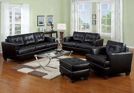 Black Leather Sofa And Chair Black Leather Sofa Bed