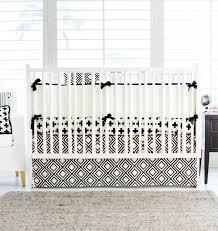Black And White Crib Bedding Sets Black And White Swiss Cross Baby Bedding Set Bold Bedding