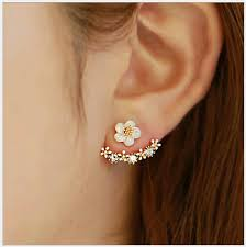 two sided earrings 2017 high quality anti allergic silver jewelry s 925 sterling