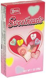 necco hearts necco tiny conversation hearts 1 0 oz nutrition information shopwell