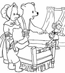 goldilocks bears coloring pages pertaining