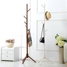 wooden standing coat rack buy 8 hooks solid wooden coat stand hat