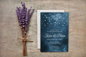 painted starry night wedding invites invitation templates