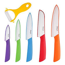 ceramic kitchen knives ceramic knife set 6 kitchen knives ceramic set with covers