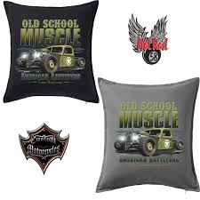 ford old logo rod old skool muscle cushion cover ford chevy v8 custom rat
