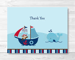 nautical thank you cards nautical thank you card nautical baby shower pirate