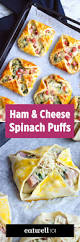 ham cheese and spinach puffs recipe u2014 eatwell101