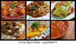 cuisine africaine nourriture traditionnel ensemble cuisine africaine image