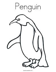 Penguin Coloring Page Twisty Noodle Penquin Coloring Pages