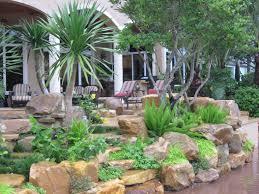 rock garden wall by waterfalls fountains u0026 gardens inc tropical