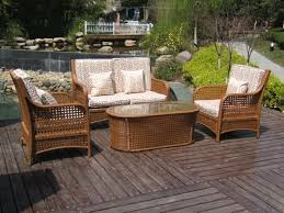 Dark Brown Wicker Patio Furniture by Wicker Patio Furniture Elegant And Durable Even In Stormy