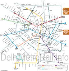 Metro Route Map by Map Of Delhi Metro To Be Completed On 2021