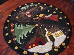 Bathroom Round Rugs by Christmas Hooked Rugs Roselawnlutheran