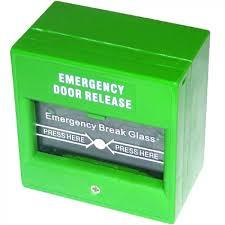 break glass door release call point break glass unit