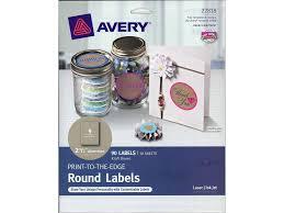 avery label print to the edge rnd kraft brn 90pc walmart com