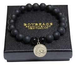 bracelet beaded images Signs of the zodiac gemini boybeads 10mm black onyx astrology jpg