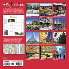 Map A Walking Route by A Walk In Paris 2017 Wall Calendar Willow Creek Press