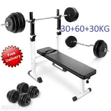 Weight Bench With Barbell Set Weight Bench Weights Set 120kg In Beaumont Dublin From