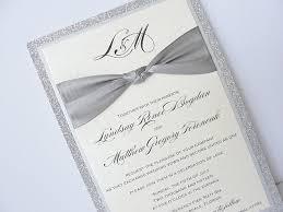 regency wedding invitations silver wedding invitations marialonghi