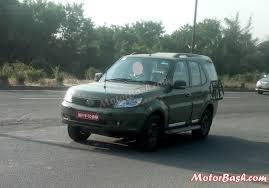 indian car tata spotted military tata safari storme u0026 under test mahindra scorpio