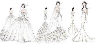 kim kardashian wedding gown sketches expensive wedding dresses
