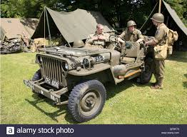 ww2 jeep wwii us army willys jeep and soviet gaz jeep restored stock photo
