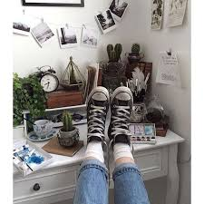 inspirational home decor aesthetic art bedroom cactus converse liked on polyvore