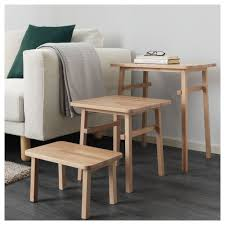 Ikea Beech Coffee Table Ypperlig Nest Of Tables Set Of 3 Beech Tables Nest And Living