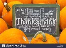 cloud of words related to celebration of thanksgiving day on a