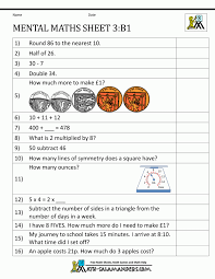 Symmetry Worksheets Personable Printable Mental Maths Year 2 Worksheets For 9 10 O