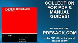 fluke i1010 service manual video dailymotion