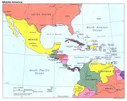 central america physical map map us mexico central america physical map of mexico and central