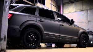 Audi Q7 Matte Black - audi q7 by moscow diptech plasti dip авто для вити ак 47 youtube