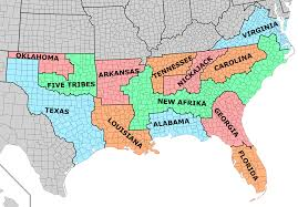 Map Of The Southern States by Latest Map Of The Union Of Socialist American Republics In R