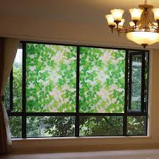 sliding glass door window clings 60x100cm hsxuan brand pvc etched glass static clings privacy