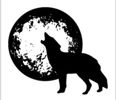 wolf moon graphic free backgrounds free vector graphics and