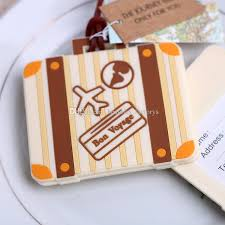wedding favor luggage tags bon voyage luggage tag wedding favors travel cards gift cheap