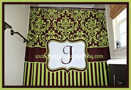 shower curtains green and brown dining rooms walls