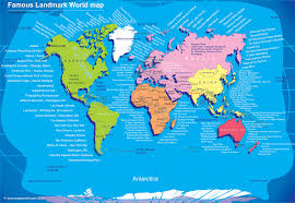 travel world images World travel map world tour map famous destinations of the world jpg