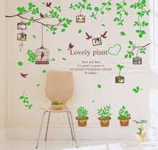 Home Decor Stickers Wall Sale Tree Branch Flower Pot Wall Stickers Plant Theme Home