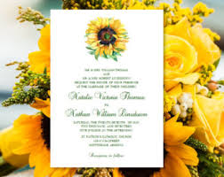 Sunflower Wedding Invitations Sunflower Wedding Invitation Etsy