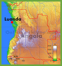 angola physical map physical map of angola