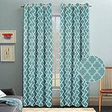 Makeshift Blackout Curtains Amazon Com Moroccan Pattern Linen Curtains 95 Inch Long For