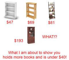 diy bookshelf holds 150 books for 40