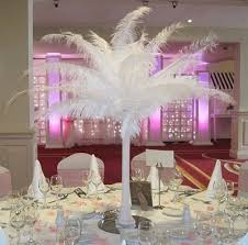 ostrich feather centerpiece to hire x 10 all about weddings